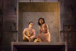 Romeo (Chris Ghaffari) and Juliet (Kaliswa Brewster)