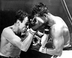 Pender Defeating Ray Robinson