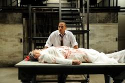 Joe Wilson, Jr. as Marc Antony and Anne Scurria as Julius Caesar Photo by Mark Turek