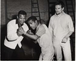 Sugar Ray and Sammy Davis Jr. rehearsing Golden Boy