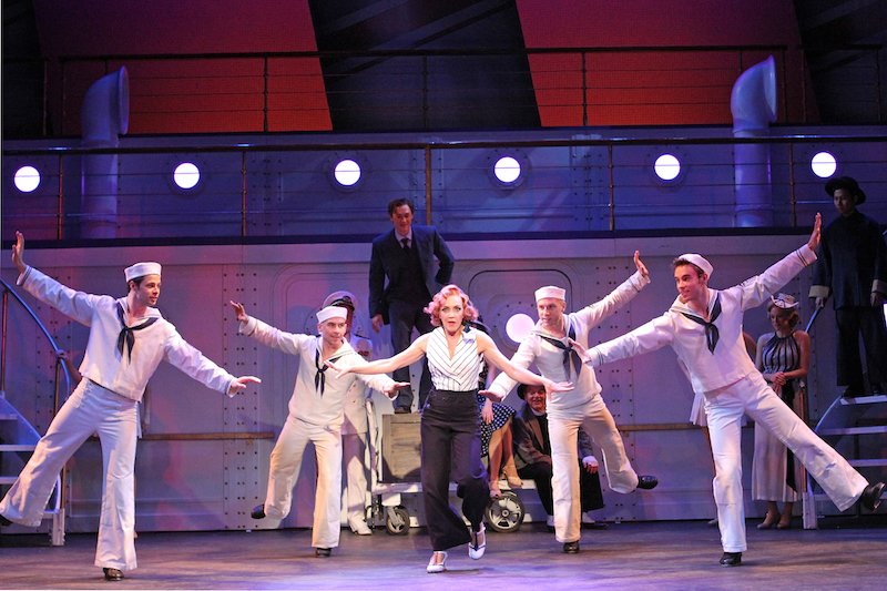 Andrea McArdel and Company in Anything Goes (photo by Jeff Bellante)