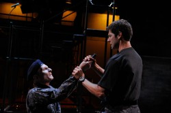 Brian McEleney as Cassius and Stephen Thorne as Brutus Photo by Mark Turek