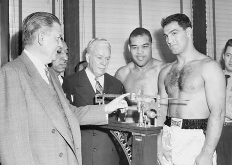 dd5337d0f18 Rocky Marciano cried the night he knocked out Joe Louis. Louis had retried  in 1948 after defending his title against Jersey Joe Walcott.