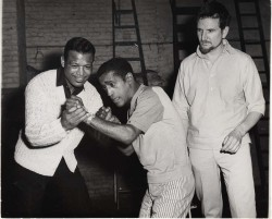 Sugar Ray and Sammy Davis Jr. rehearsing Golden Boy