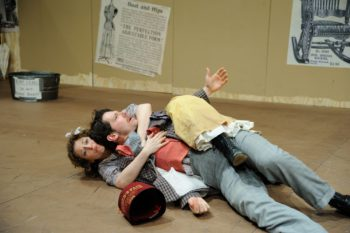 Rebecca Gibel as Ado Annie Carnes and Stephen Thorne as Ali Hakim Photo by Mark Turek
